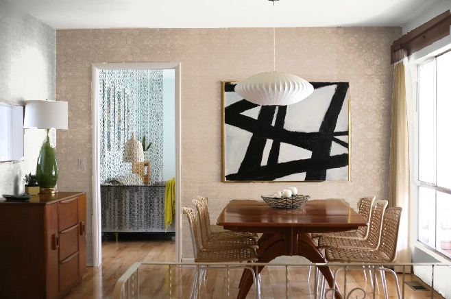 dining room accent wall colors sand tan