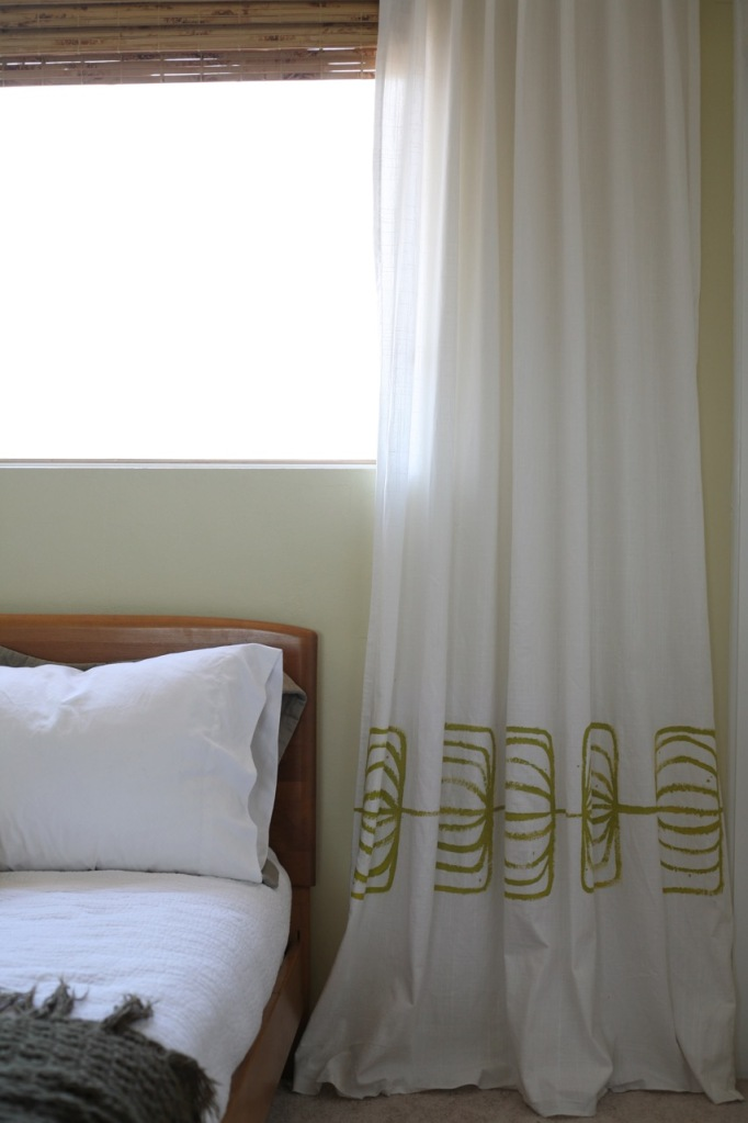 DIY Painted Printed Curtains Drapes Ikea patterned abstract