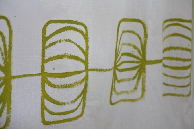 DIY Painted Printed Curtains Drapes Ikea
