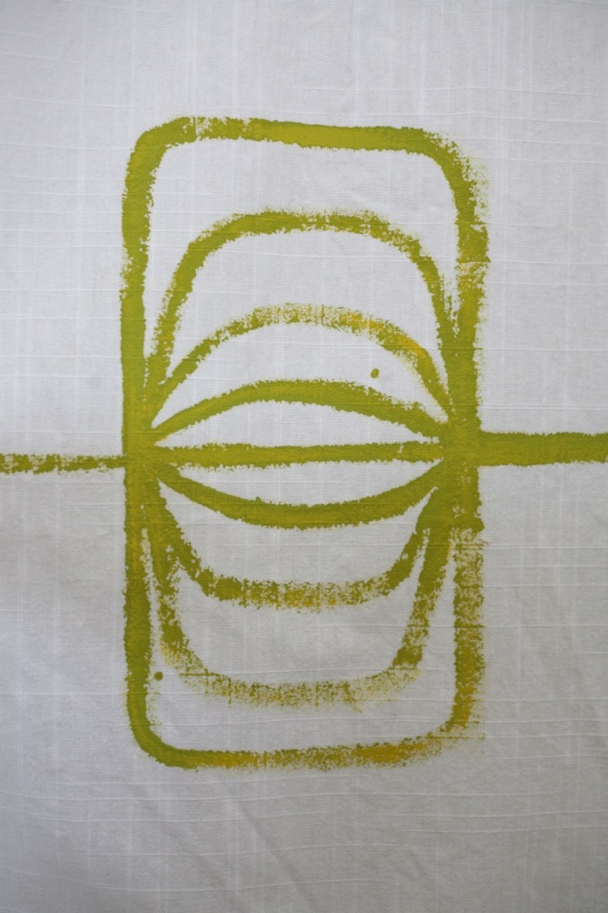 painting on fabric curtains house paint abstract pattern