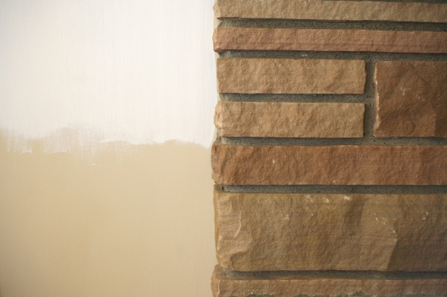 rock fireplace masonry