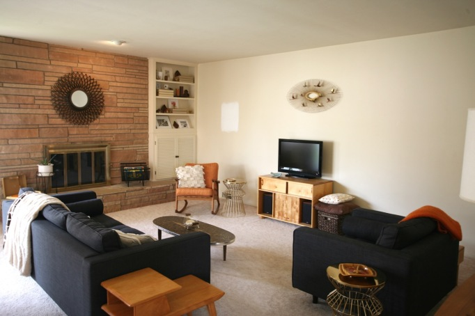 family room living room rock fireplace