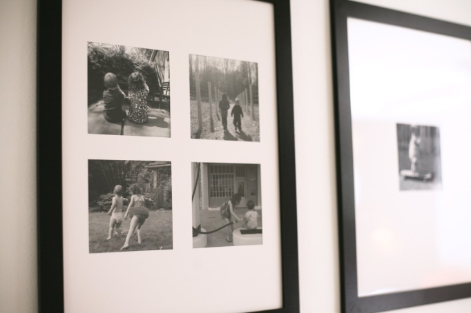 black white photoblack and white family photos frames ikea gallery wall portraits hall frames grid