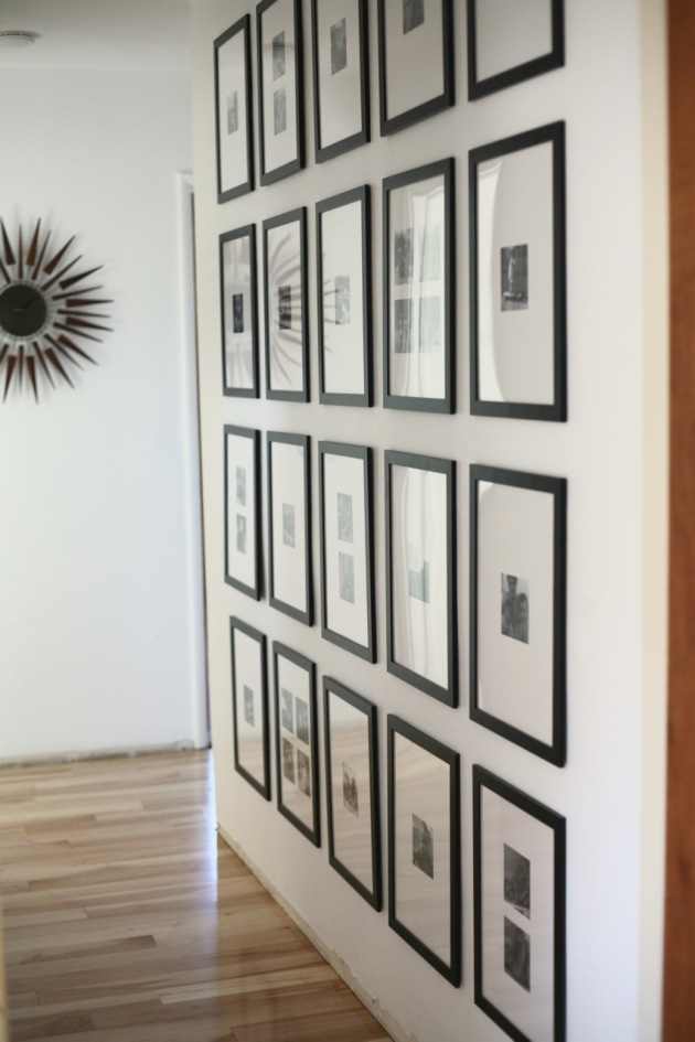 Cheap B & W Family Photo Wall of Clutter | Suburban Pop