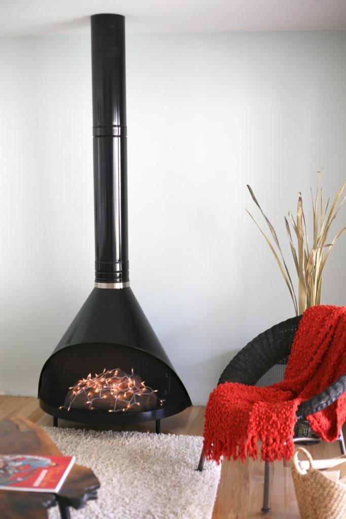 vintage cone fireplace preway black lights