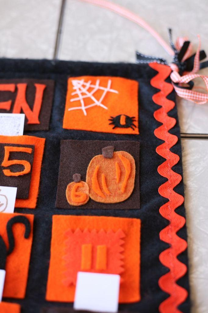 Halloween Calendar Countdown Advent Felt DIY Homemade October