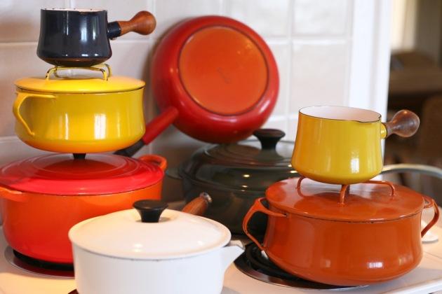 Cast Iron Enamel Pots Pans Le Creuset Dansk Kobenstyle Descoware vintage