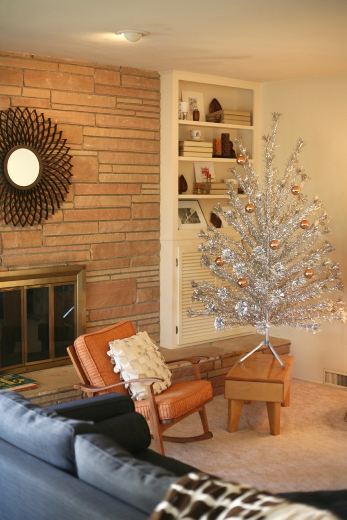 aluminum Christmas Tree Evergleam 6 foot gold