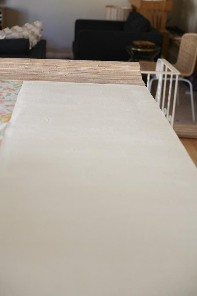 Grasscloth Grass Cloth Wallpaper How to hang install DIY booking adhesive