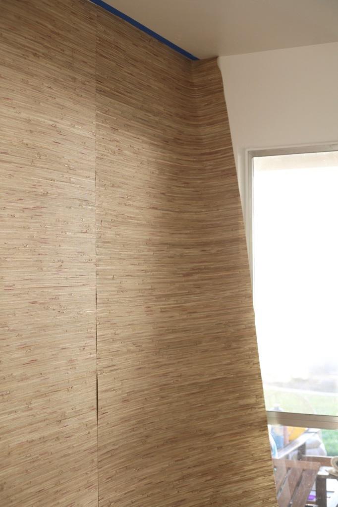 Grasscloth Grass Cloth Wallpaper How to hang DIY panels seams
