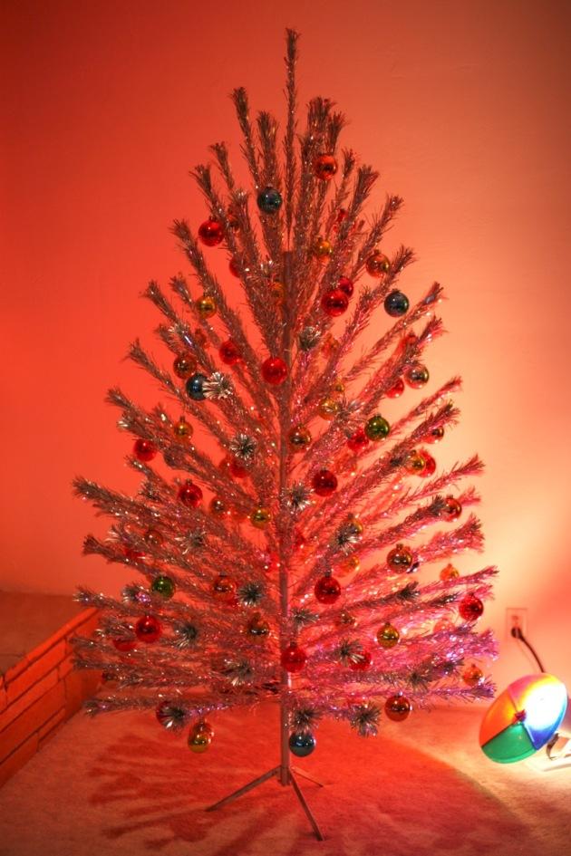 aluminum christmas tree color wheel - Vintage Aluminum Christmas Tree