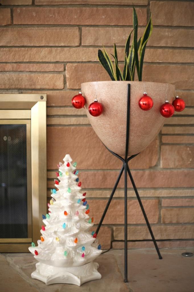 vintage mid century bullet planter christmas tree ceramic