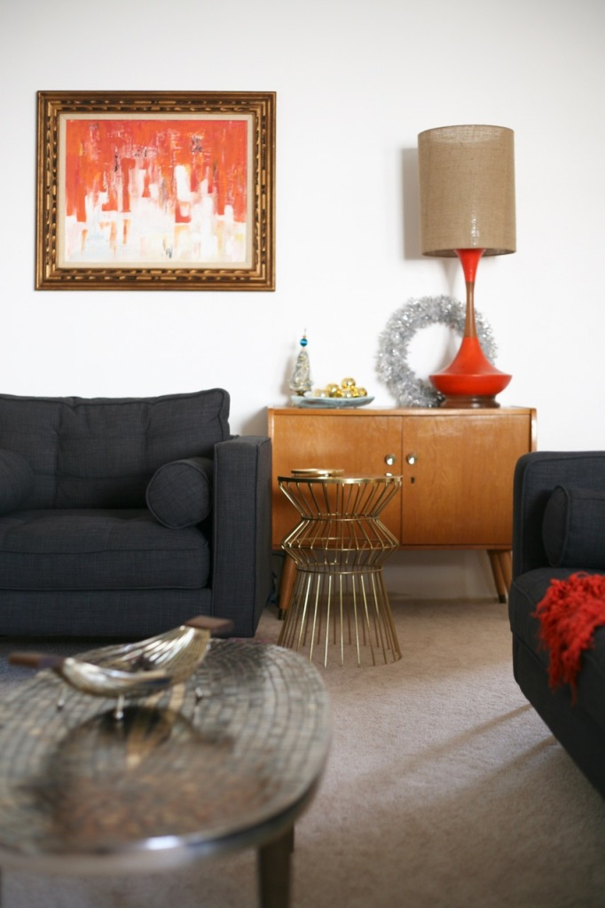 mid century danish christmas orange  mosaic table target wire table lamp