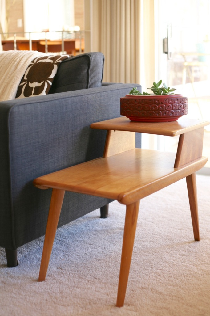 mid century heywood wakefield end table scandia planter