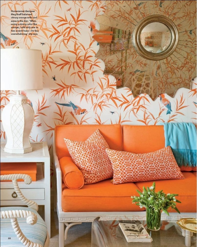 meg braff coastal living march 2011 bob collins bamboo wallpaper orange