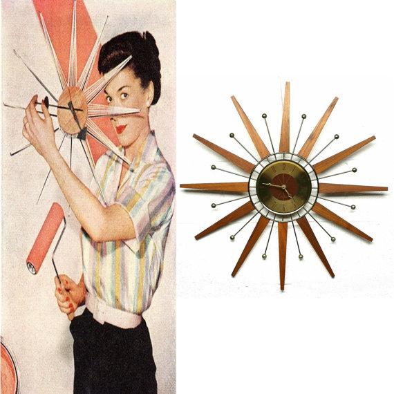 seth thomas ad starburst clock