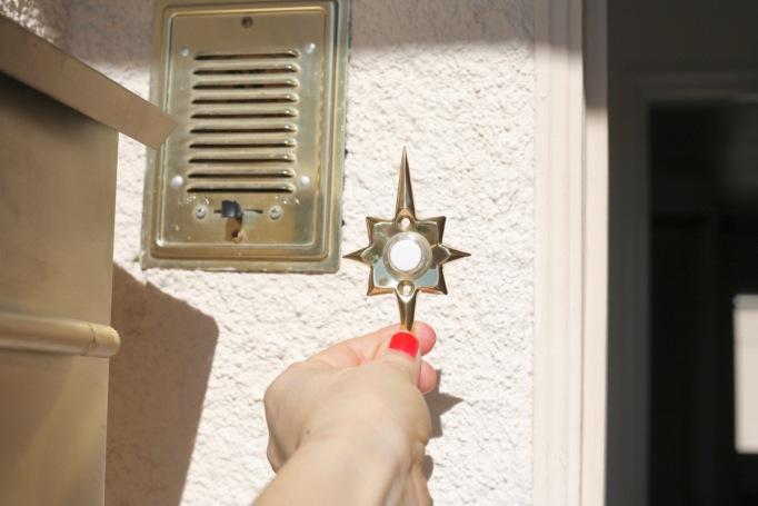 mid century doorbell button door bell starburst rejuvenation star