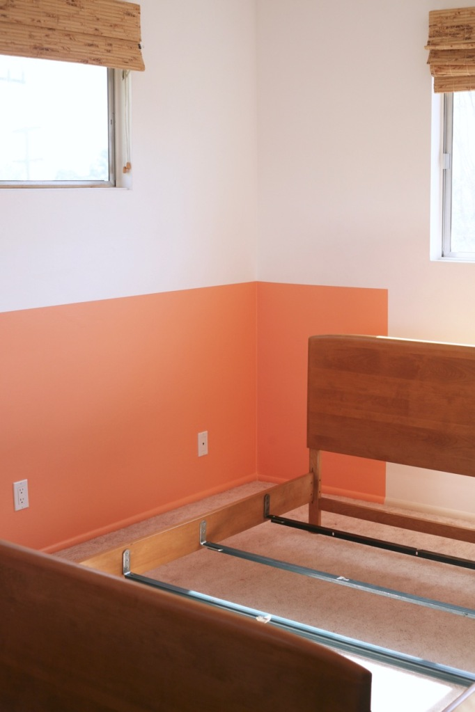 behr sunset strip color block paint heywood wakefield bed