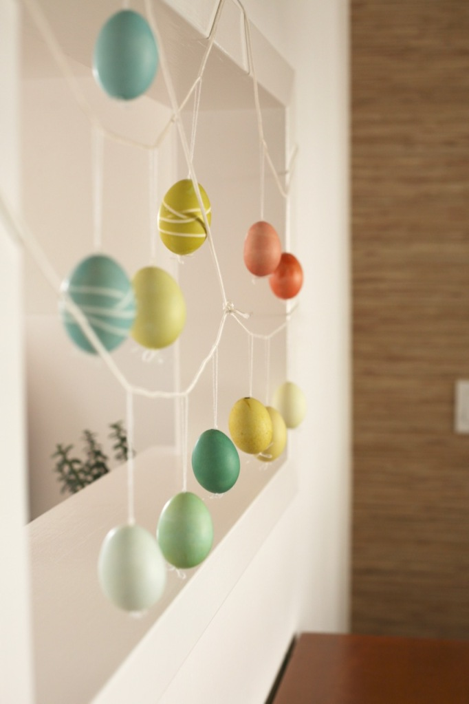 easter eggs tree ornaments real eggs alternative hanging
