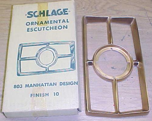 ebay mid century escutcheon schlage manhattan