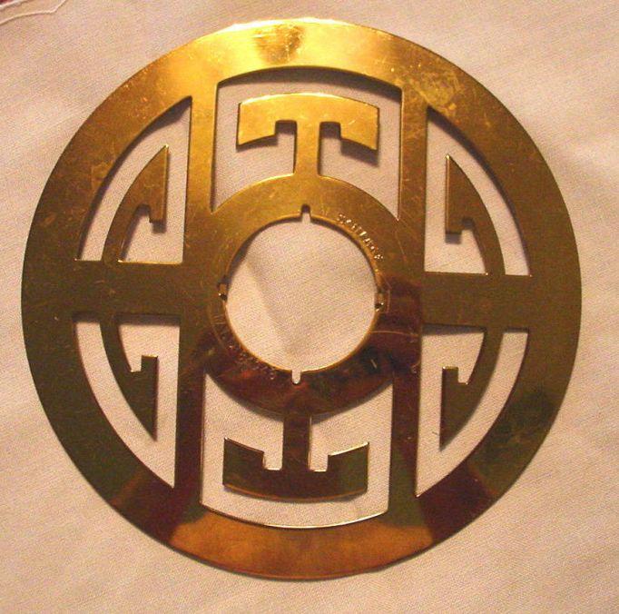 ebay mid century escutcheon schlage shou