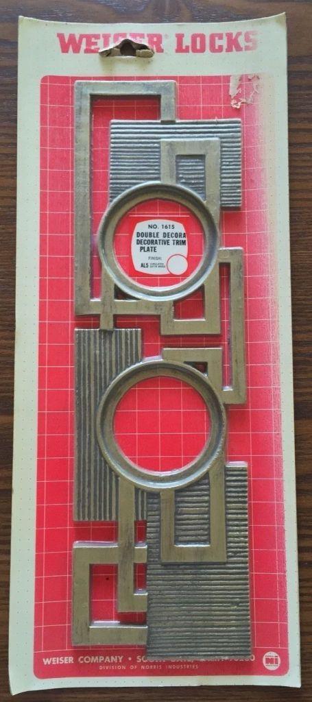 ebay mid century escutcheon weiser