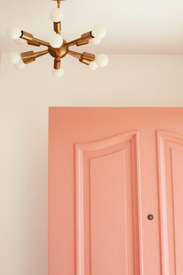 coral pink front door