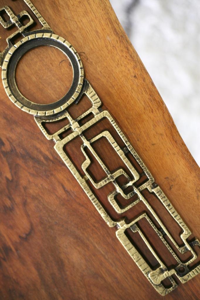 mid century door escutcheon brutalist rejuvenation samba weiser vintage abstract