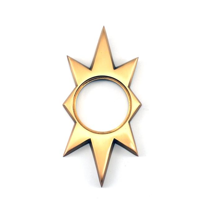 lizs hardware mid century reproduction escutcheon star