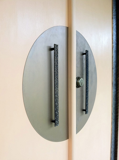 retro renovation diy escutcheon mid century door