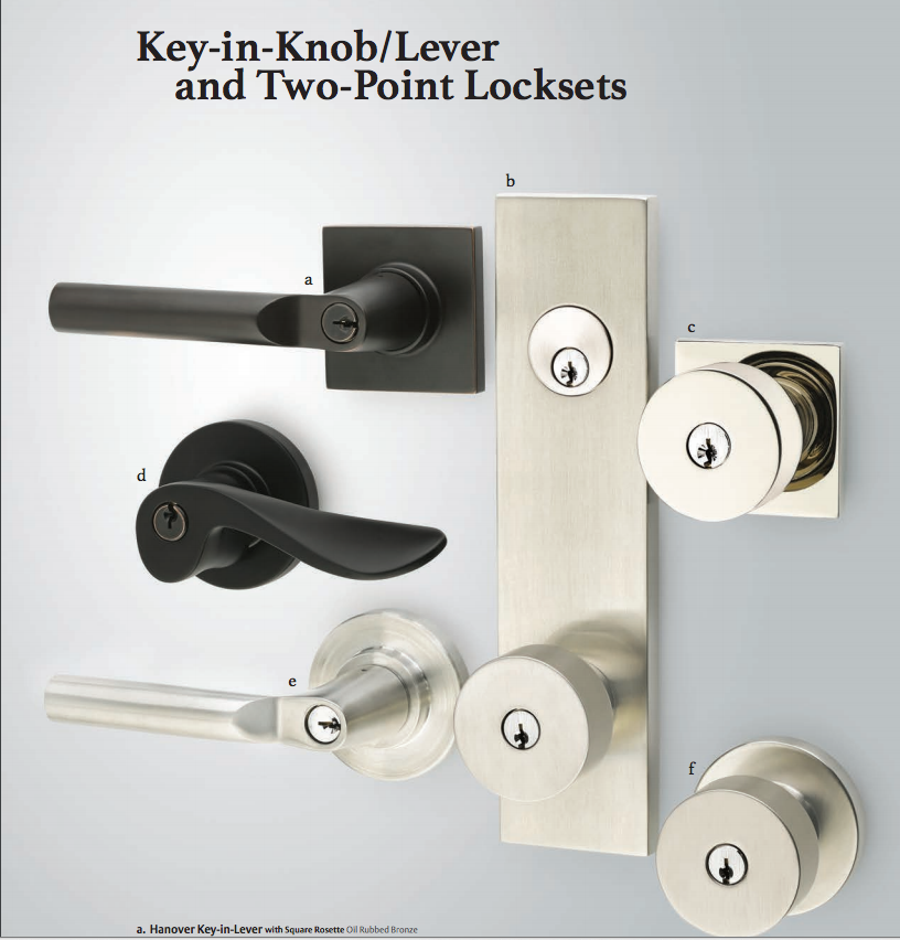 ... Emtek Modern Rectangular Two Point Lock