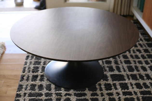 mid century vintage tulip table coffee black laminate burke saarinen
