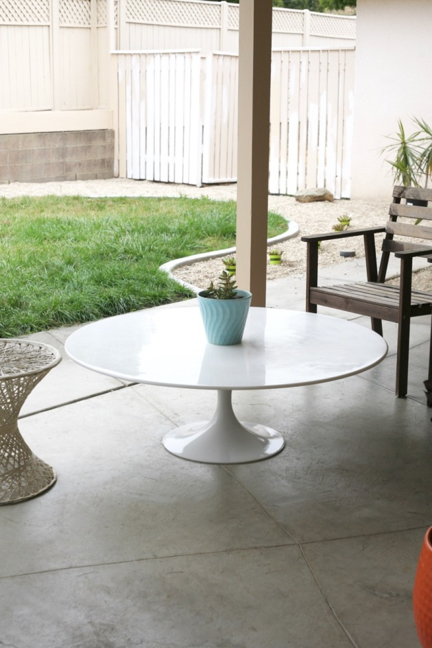 mid century tulip table coffee patio saarinen burke white