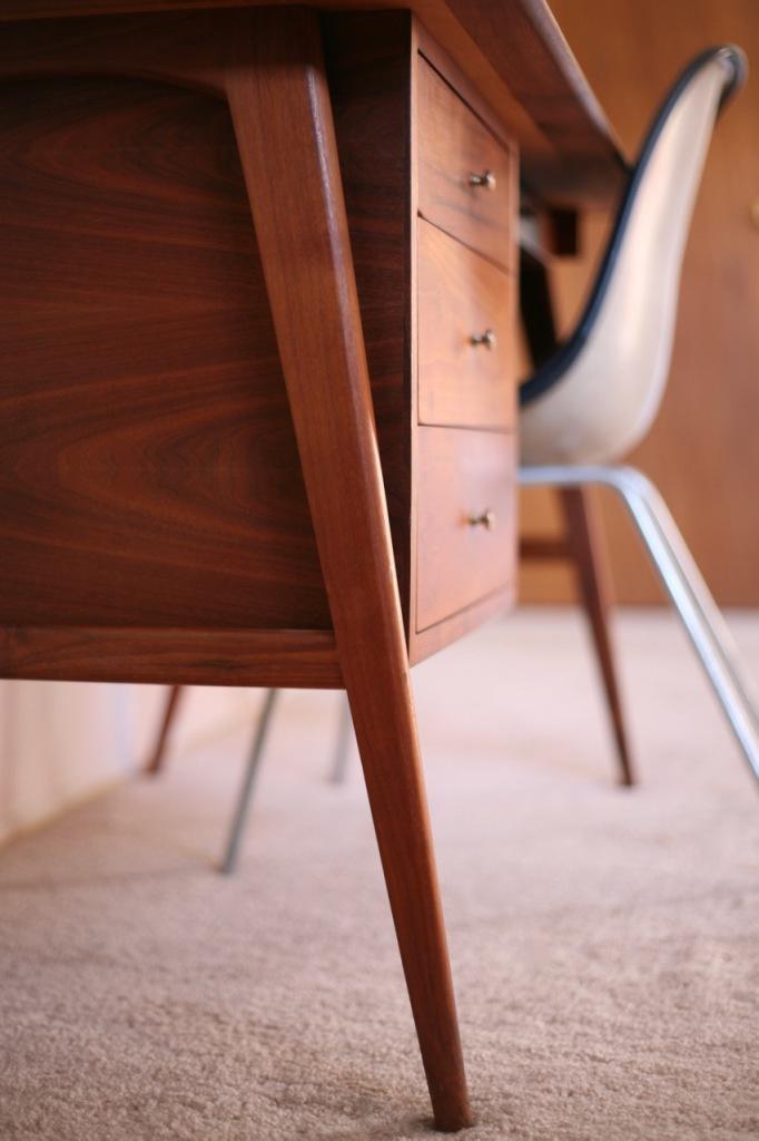 mid century danish desk teak