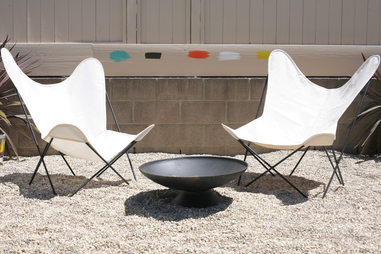 Marvelous ... Mid Century Butterfly Chair Frames Cover Comparison Review Sources  White Firepit
