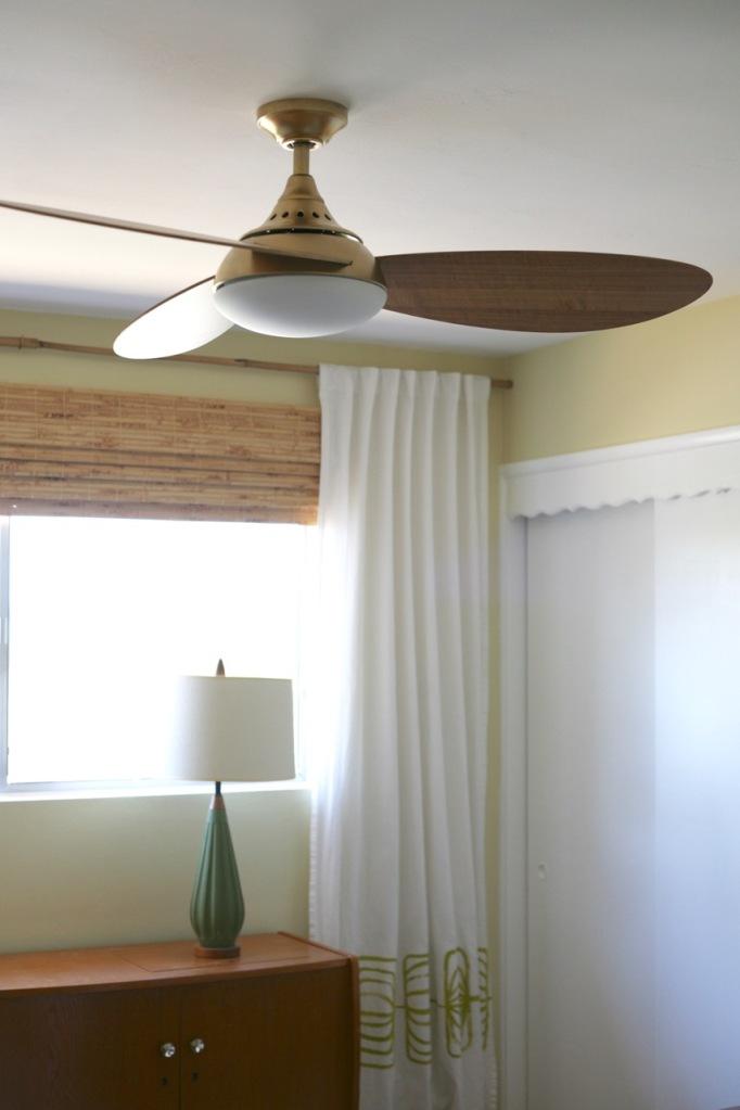 mid century modern ceiling fan brass diy spray paint harbor breeze avian