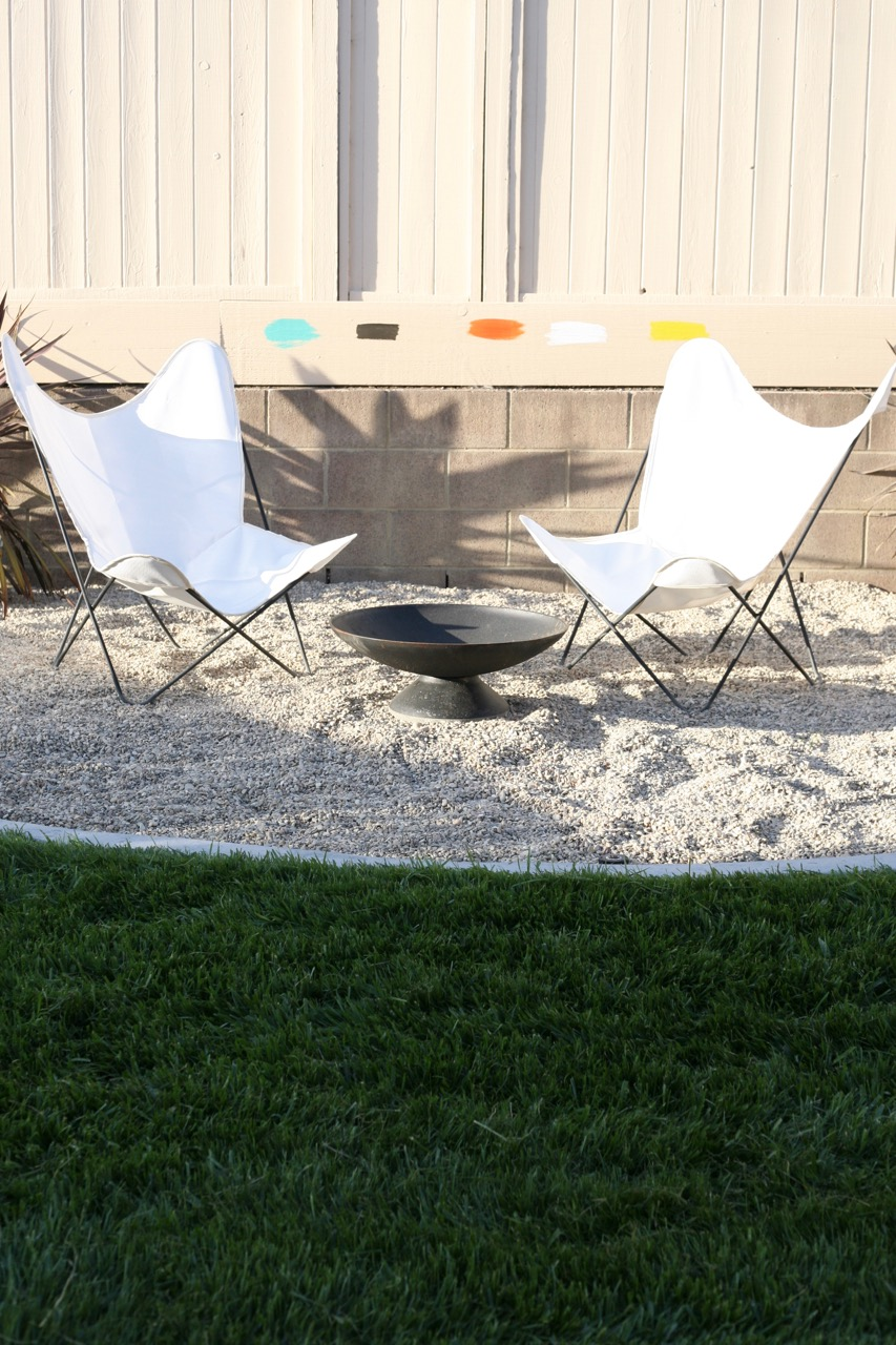 ... Mid Century Butterfly Chair Cover Sources Outdoor Fabric White Firepit  Backyard ...