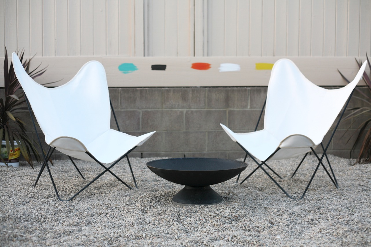 ... Mid Century Butterfly Chair Cover Sources Outdoor Fabric White Firepit  Backyard