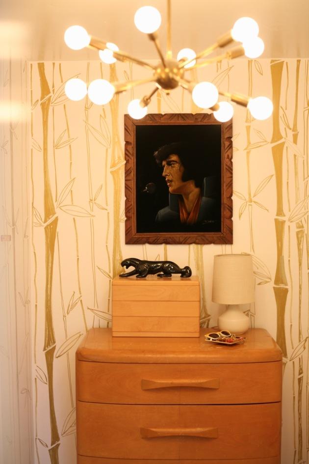 mid century closet velvet elvis panther