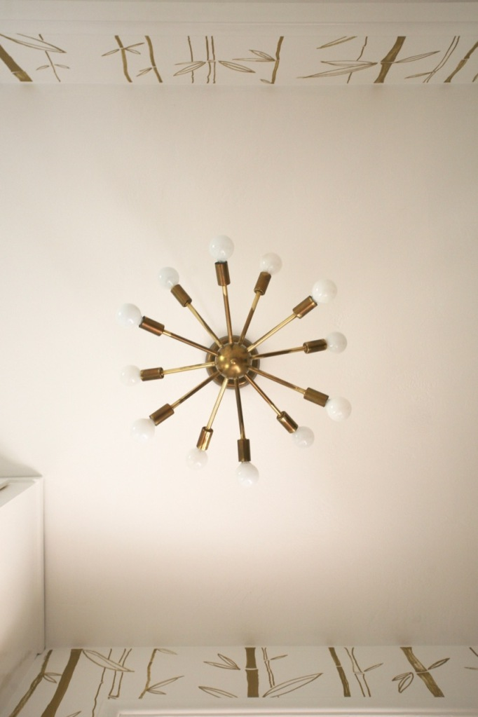 mid century sputnik light closet