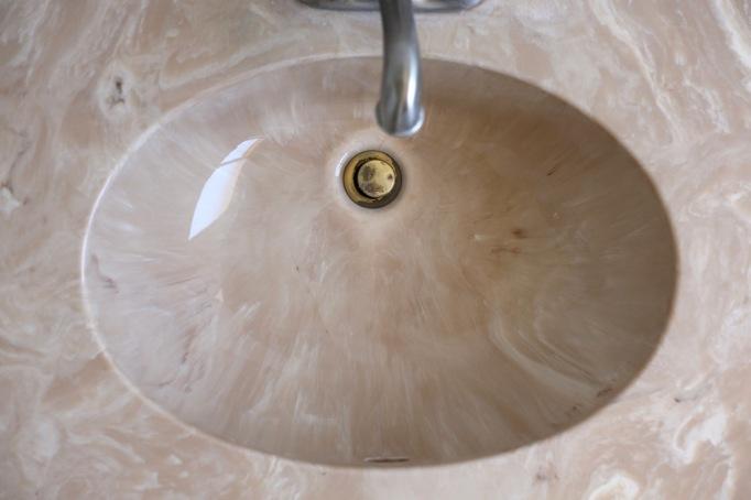 cultured marble sink vintage