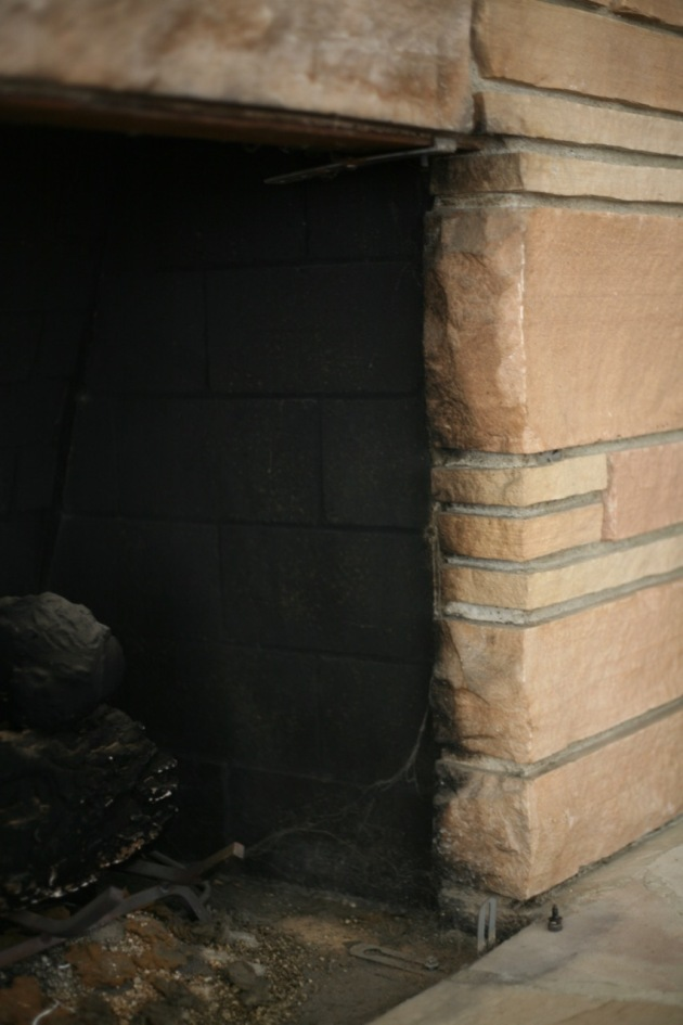mid century fireplace lintel