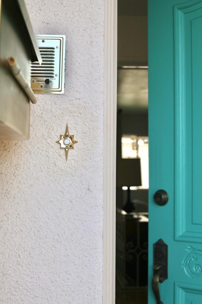 rejuvenation starburst doorbell mid century vintage star