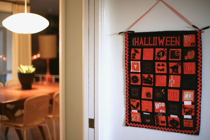 diy halloween calendar