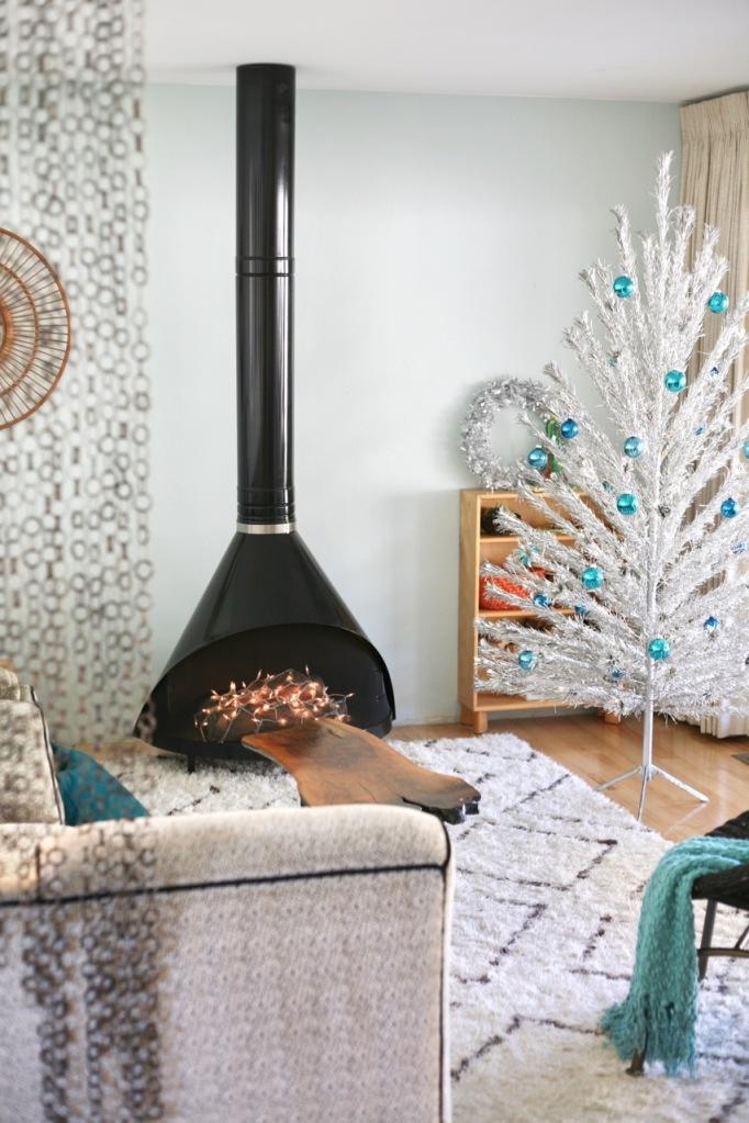 mid century christmas aluminum tree