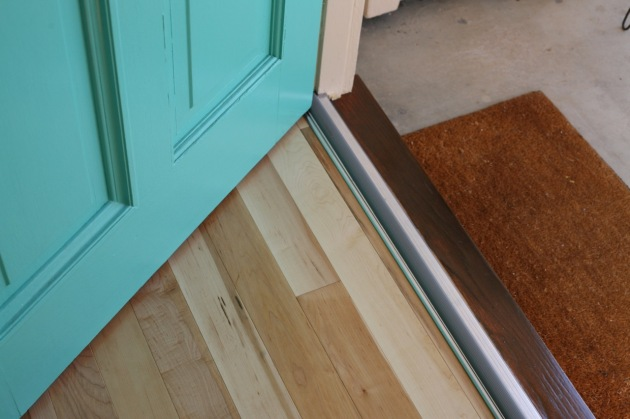 hardwood floors diy install entry threshold
