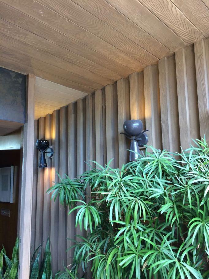 Edris House front door sconce light entry porch