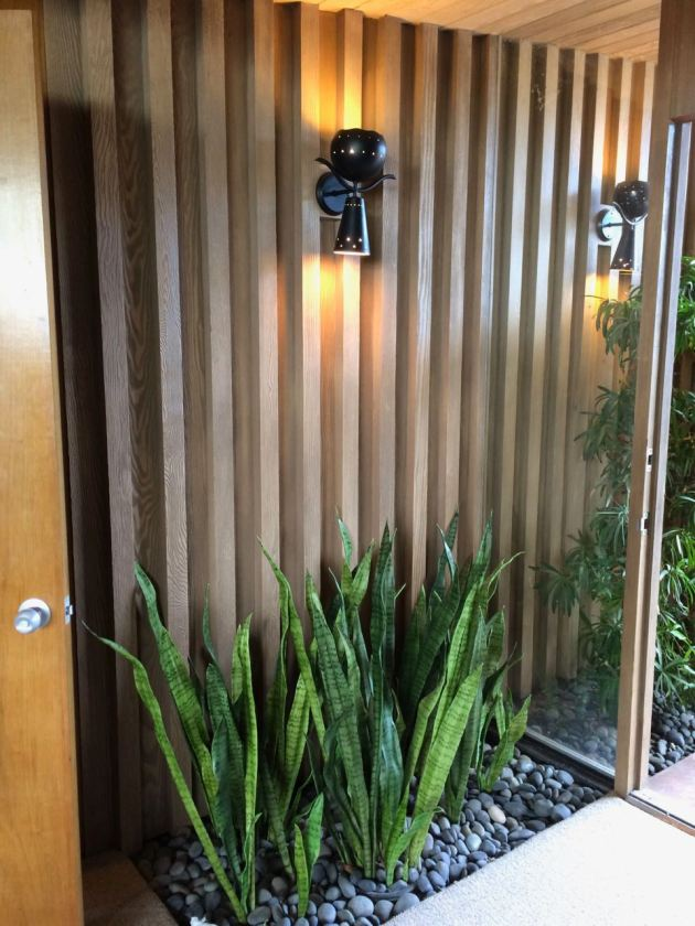 Edris House Entry sconce mid century indoor planter