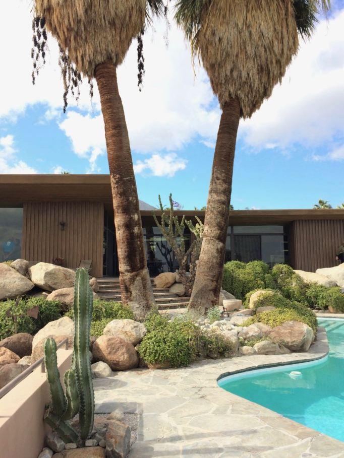 Edris House E Stewart Williams Palm Springs Desert Modern pool palm trees