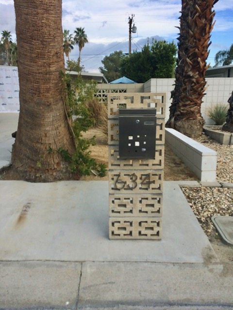West Elm House Palm Springs Modernism Week 2017 mailbox breeze blocks breezeblock